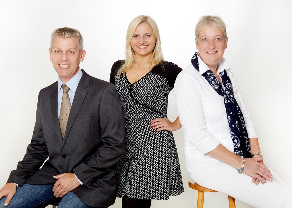Das Team von Rühmann-VM: Stefan Rühmann, Rita Wirch und Kirsten Claussen.